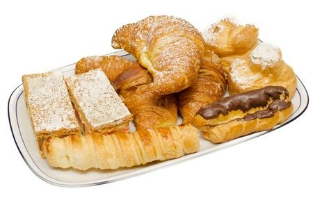 pasteles: bandeja de pasteles