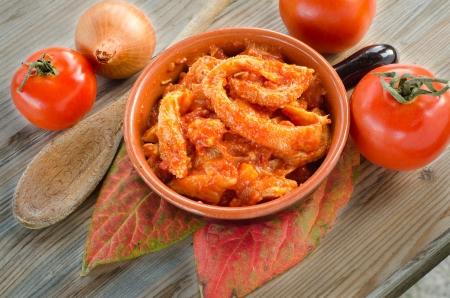 sauce tomate: Tripes � la sauce tomate