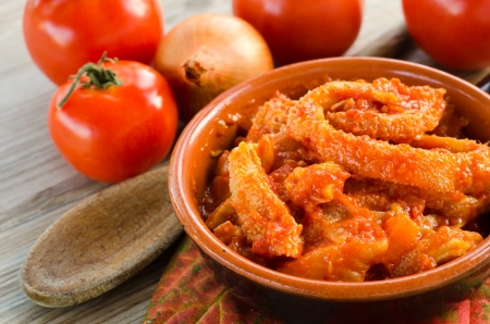 Tripe with tomato sauce Stock Photo - 16383713