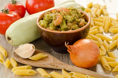 Sauce with cabbage and shrimps and other ingredients Stock Photo - 16412603