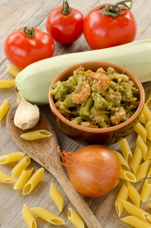 Sauce with cabbage and shrimps and other ingredients  Stock Photo - 16412587