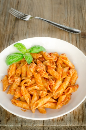 Penne with ragout Stock Photo - 16557067