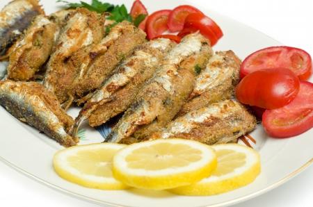Stuffed and breaded sardines