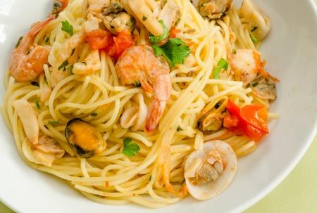 mediterrane k�che: Spaghetti mit Meeresfr�chten, mediterraner K�che