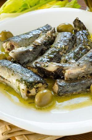 İtalyan mutfağı: Eels with olive sauce, italian cuisine