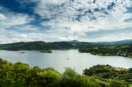 Sardinia, Liscia lake Stock Photo