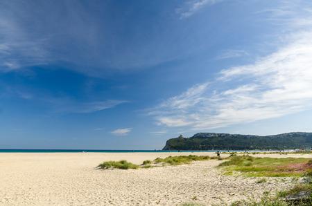 Sardinia, Cagliari, Poetto beach Stock Photo
