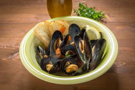 İtalyan mutfağı: Mussels soup, italian cuisine