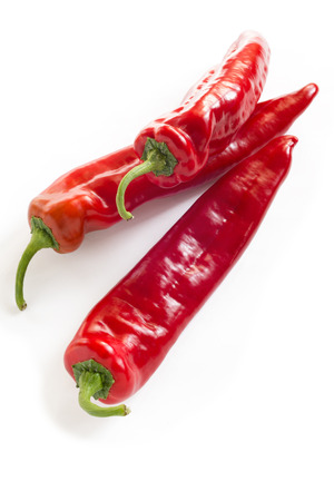 finer: Red peppers Stock Photo