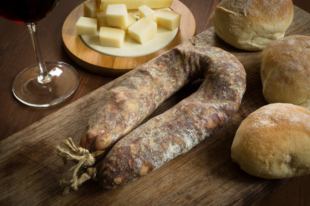 italian sausage: Italian sausage and other foods Stock Photo