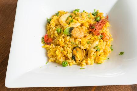 marisco: Paella de Marisco, spanish cuisine