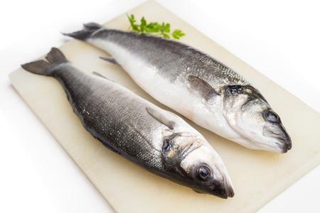 finer: Fresh sea bass Stock Photo