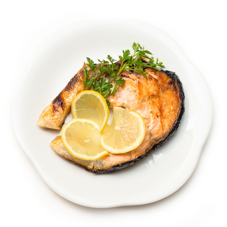 Roasted Salmon Steak photo