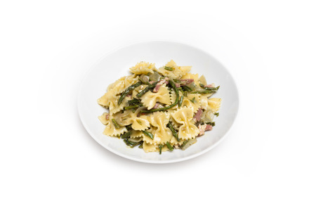 finer: Farfalle with bacon and asparagus Italian Pasta