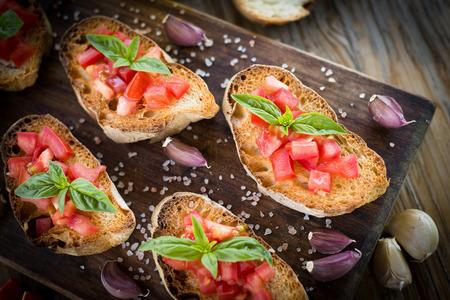 bruschetta: Italian bruschetta, finger food