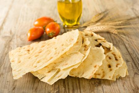 Carasau bread, Sardinian Food Stock Photo