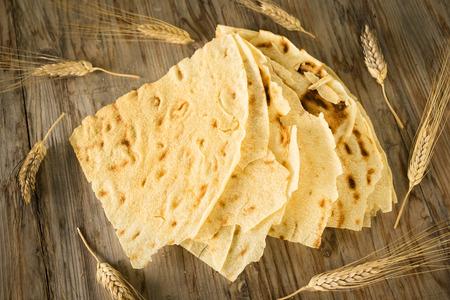 Carasau bread, Sardinian Food 版權商用圖片