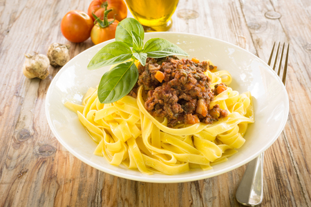 ragout: Tagliatelle with ragout sauce, Italian Food