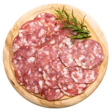 salami slices: Italian salami slices
