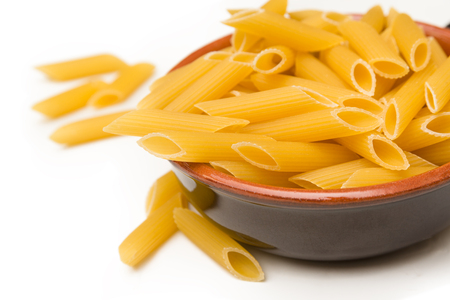 pasta isolated: Pens, italian pasta isolated on white background