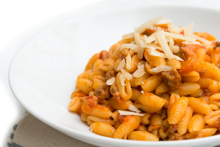 ragout: Malloreddus with ragout and cheese