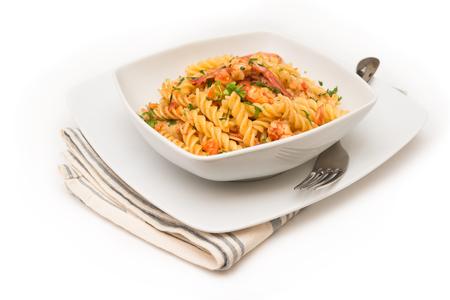 salsa de tomate: Fusilli con camarones y salsa de tomate