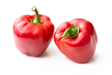 red peppers: Fresh red peppers