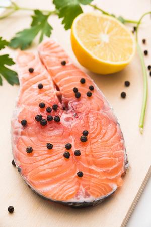 salmon steak: Fresh salmon steak