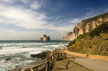 sea cliff: Sugarloaf, Masua, Sardinia