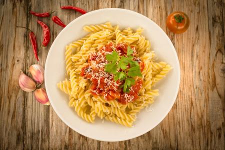 Fusilli met tomatensaus en kaas, Italian Pasta