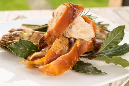 roast suckling pig, Roasted Pork, Sardinian Cuisine