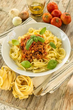 ragout: Tagliatelle with ragout sauce