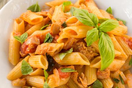 ragout: Italian pasta with fish ragout