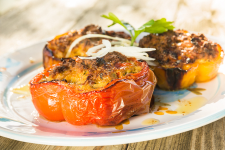 pepperoni: Beef Stuffed Pepperoni Stock Photo