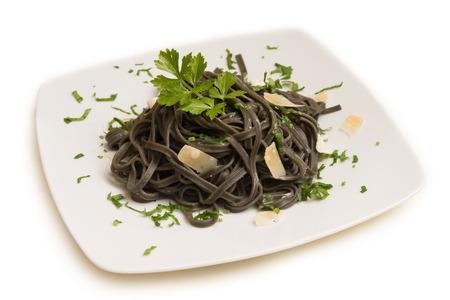 Squid Ink Tagliolini, Italian Pasta
