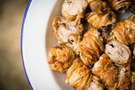 offal: Sa Cordula, roasted lamb offal, traditional food of Sardinia Stock Photo