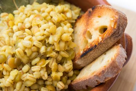 agri: Barley and lentil soup Stock Photo