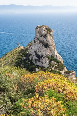 sella: Sella del Diavolo coast, Cagliari, Sardinia, Italy