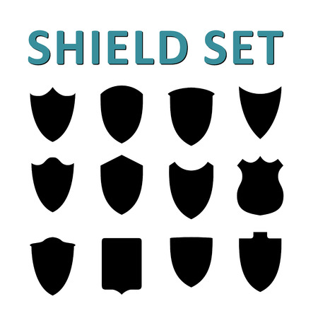 Vector Black Shields Set