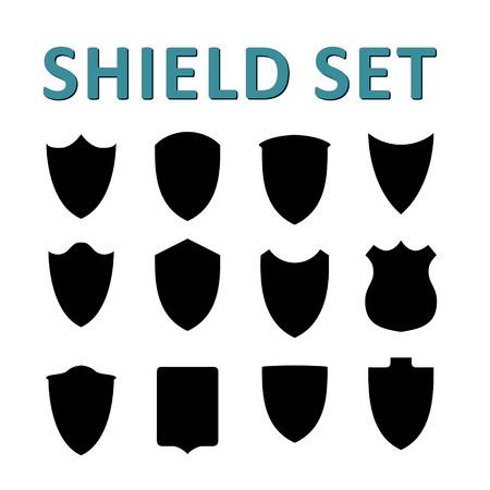 shield set: Vector Black Shields Set