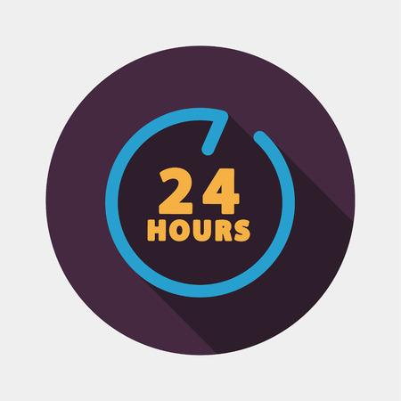 hours: 24 hours customer service. Illustration
