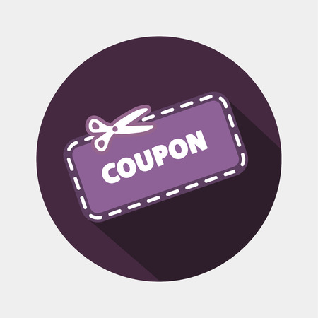 discount coupon: Discount Coupon Icon Illustration