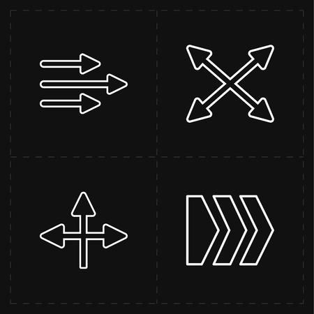 upward movements: 4 flat modern arrows