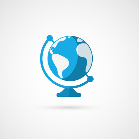geography: Vector globe icon. Geography.