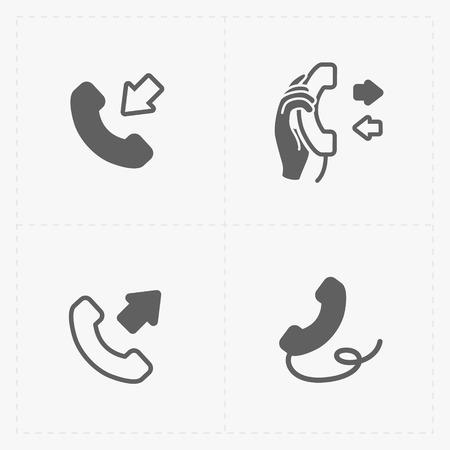 hang up: Phone icons, vector illustration.