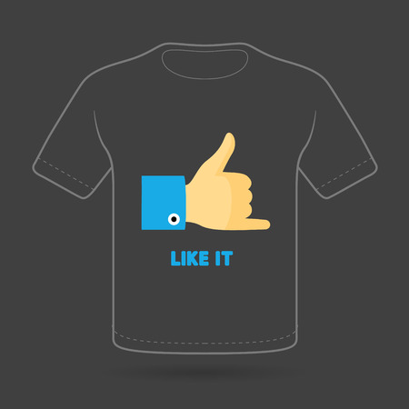 jest: T-shirt with funny print on black background. Vector  print. Illustration