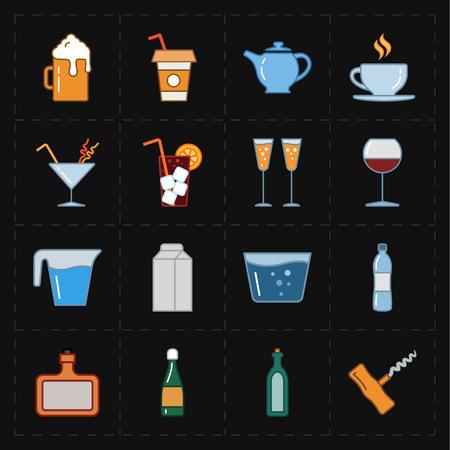 tumbler: 16 modern flat bar icons