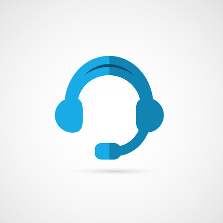 call center office: Vector   headphones. illustration of call center.