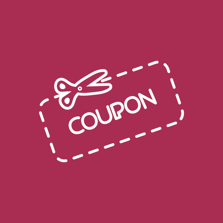 snip: Discount Coupon Icon Illustration