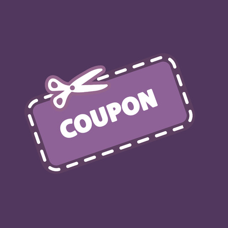 Discount Coupon Icon 向量圖像